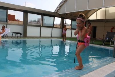 Always fun at the pool